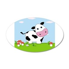 Cow in a Field Wall Decal