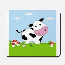 Cow in a Field Mousepad