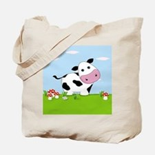 Cow in a Field Tote Bag