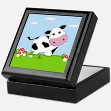Cow in a Field Keepsake Box