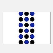 Black Blue Spot George's Postcards (Package of 8)