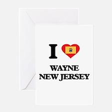 I love Wayne New Jersey Greeting Cards
