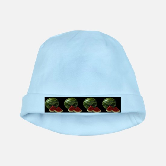 black watermelon baby hat
