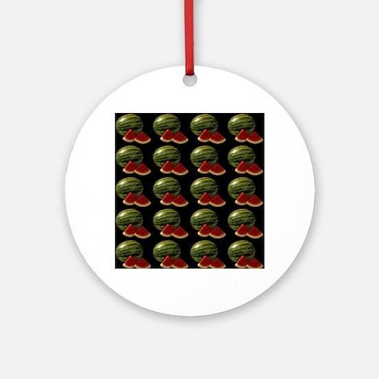 black watermelon Ornament (Round)