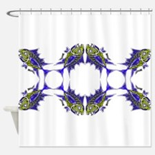 Toothy Pattern Redisigned. Fish Tun Shower Curtain
