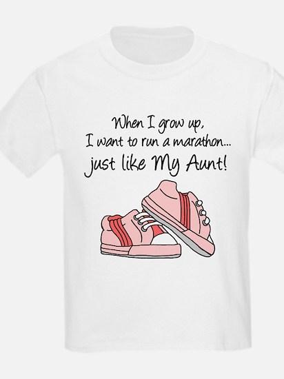 Run Marathon Just Like Aunt T-Shirt