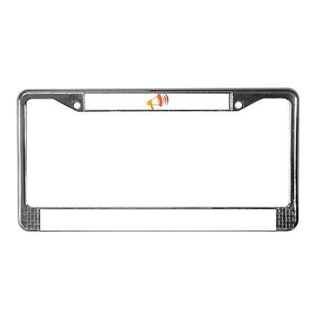 Megaphone License Plate Frame