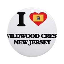 I love Wildwood Crest New Jersey Ornament (Round)