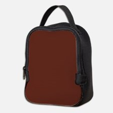 Solid Burnt Sienna Neoprene Lunch Bag