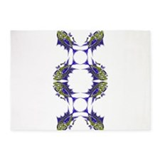 Retro Toothy Redesigned Rotated. Fi 5'x7'Area Rug