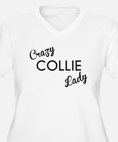 Crazy Collie Lady Plus Size T-Shirt