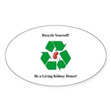 Living Kidney Donor Oval Decal