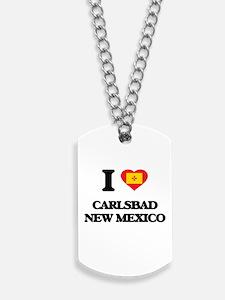 I love Carlsbad New Mexico Dog Tags