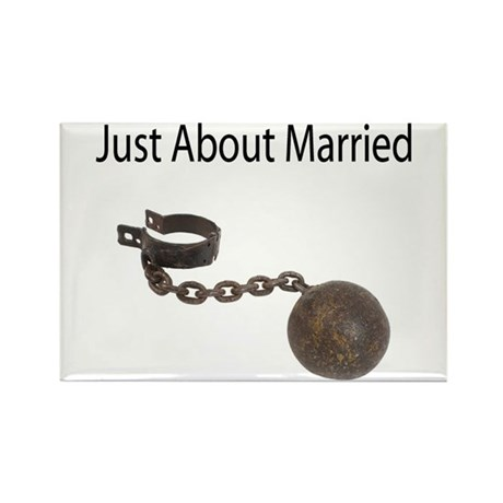 Just About Married Rectangle Magnet (100 pack)