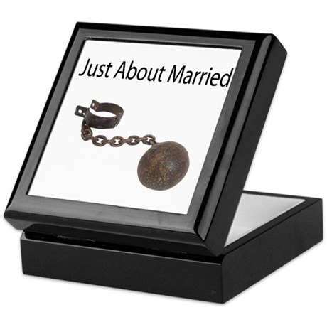 Just About Married Keepsake Box