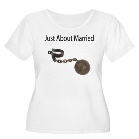Just About Married Women's Plus Size Scoop Neck T-