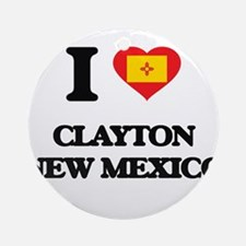 I love Clayton New Mexico Ornament (Round)