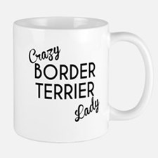 Crazy Border Terrier Lady Mugs