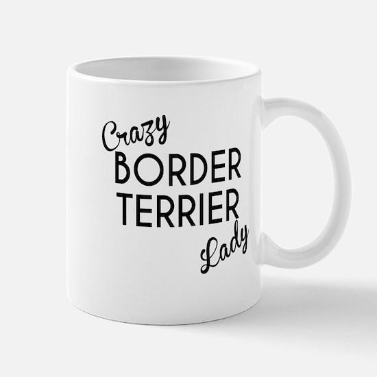 Crazy Border Terrier Lady Mugs