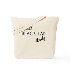 Crazy Black Lab Lady Tote Bag