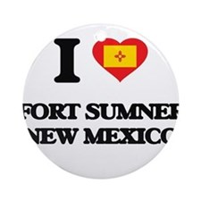 I love Fort Sumner New Mexico Ornament (Round)