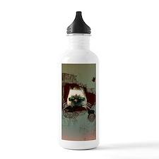 Funny cartoon cat Water Bottle