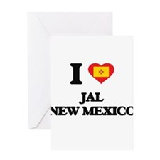 I love Jal New Mexico Greeting Cards