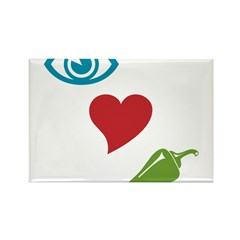 I Love Spicy Rectangle Magnet (10 pack)