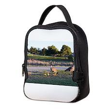 Cute Wild geese Neoprene Lunch Bag