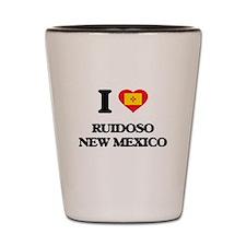 I love Ruidoso New Mexico Shot Glass