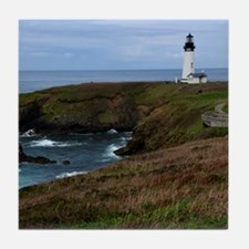 Yaquina Head Lighthouse Tile Coaster