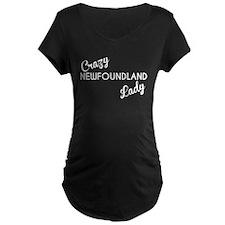 Crazy Newfoundland Lady Maternity T-Shirt