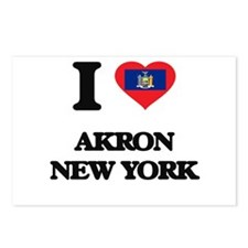 I love Akron New York Postcards (Package of 8)