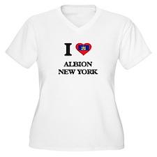 I love Albion New York Plus Size T-Shirt