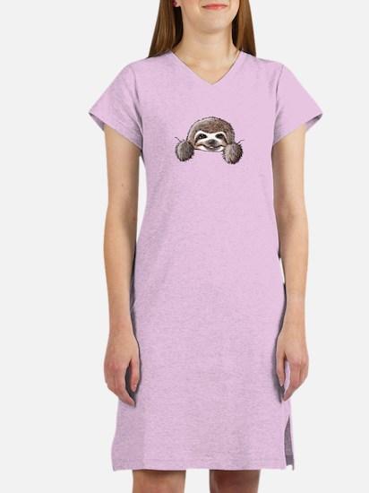 KiniArt Pocket Sloth Women's Nightshirt