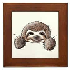 KiniArt Pocket Sloth Framed Tile