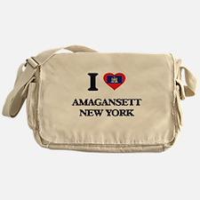 I love Amagansett New York Messenger Bag