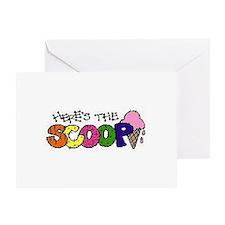 Cute Funny sour cream design Greeting Card