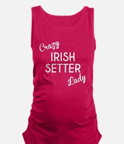 Crazy Irish Setter Lady Maternity Tank Top