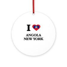 I love Angola New York Ornament (Round)