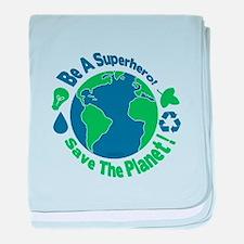 Earth Day Hero baby blanket