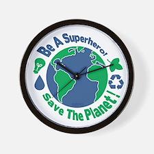 Earth Day Hero Wall Clock