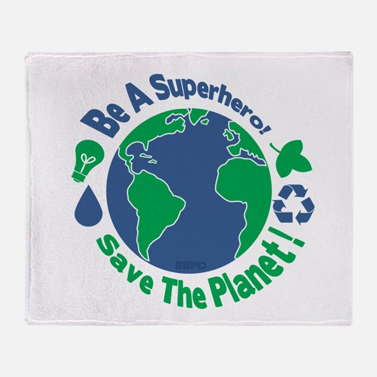 Earth Day Hero Throw Blanket