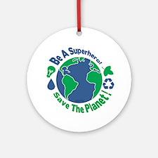Earth Day Hero Ornament (Round)