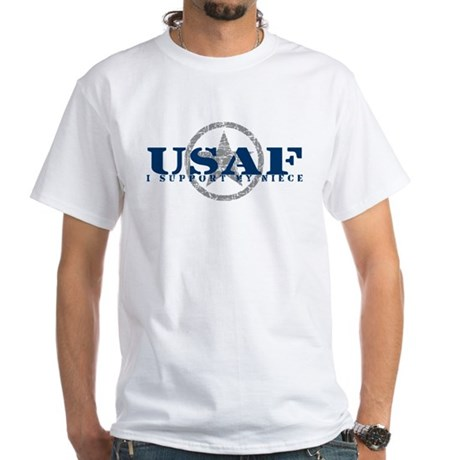 I Support My Niece - Air Force White T-Shirt