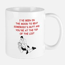 wrestling joke on gifts and t-shirts. Mugs
