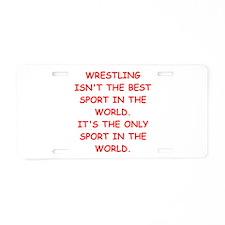wrestling joke on gifts and t-shirts. Aluminum Lic