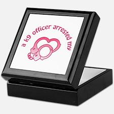 K9 Officer Arrested Keepsake Box