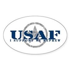 I Support My Nephew - Air Force Oval Decal