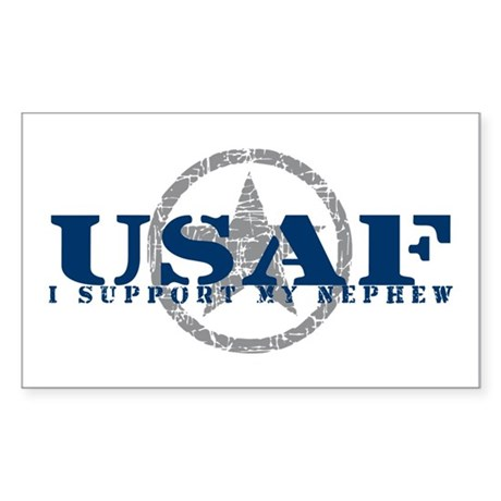 I Support My Nephew - Air Force Sticker (Rectangul